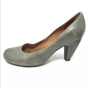 Miz Mooz Classic Heels Pumps Green Round Toe 10